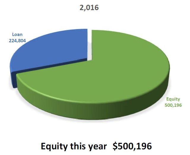 Homeowners equity at start of reverse mortgage